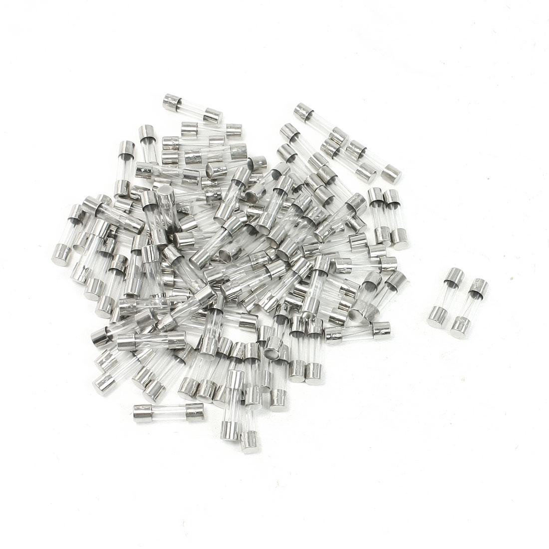 15A 250V 5mm x 20mm Fast Blow Glass Tube Fuses 100 Pieces