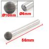 10mm x 8mm Ball Shape Head Single Cut Tungsten Carbide Rotary File