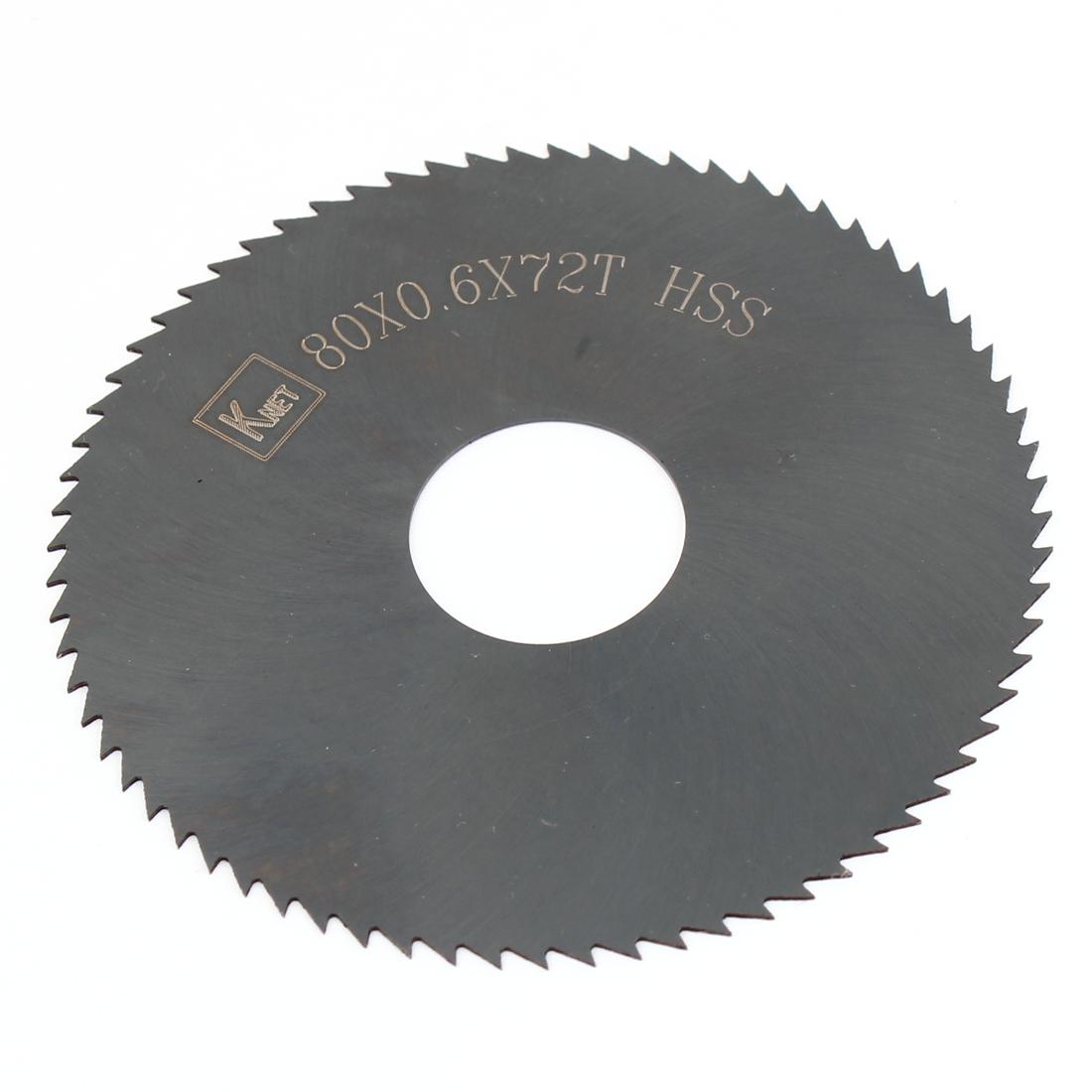 80mm x 0.6mm x 22mm Mill Cutter HSS 72 Teeth Slitting Saw