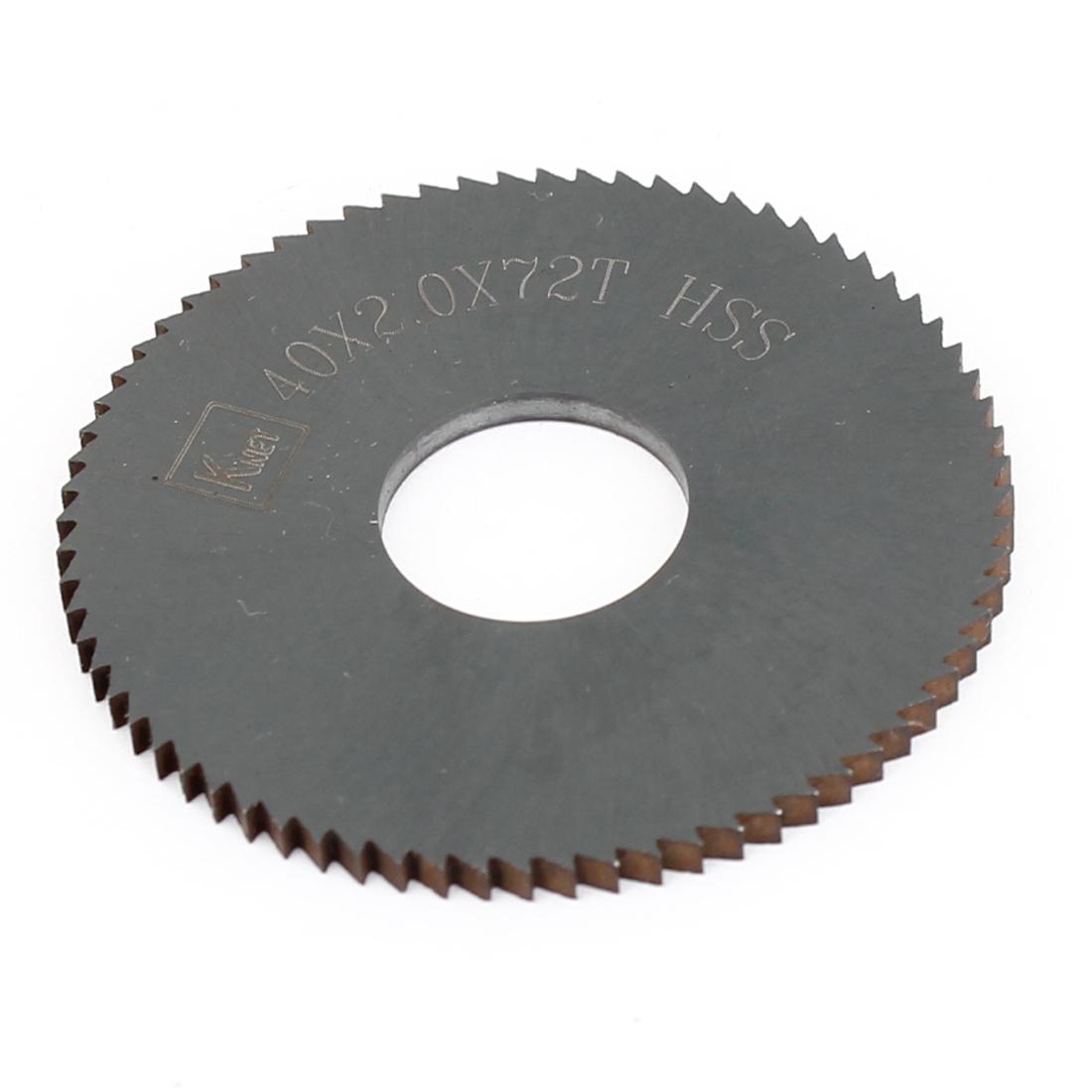 HSS 72 Teeth 40mm x 2mm x 13mm Slitting Saw Cutting Tool
