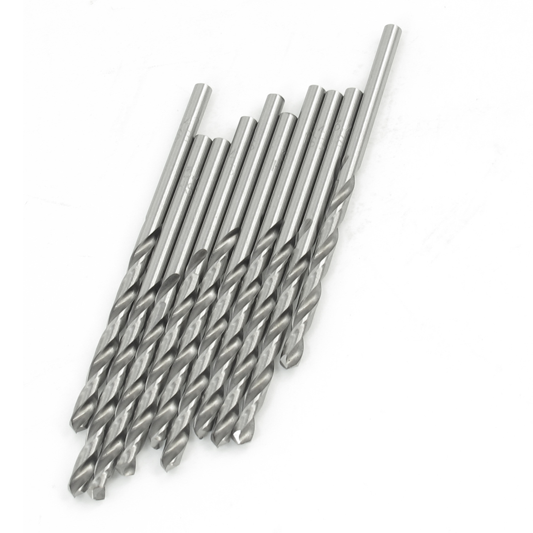 10 Pcs HSS Straight Shank Cutting End Mills Twist Drill Bits 3.4mm Dia