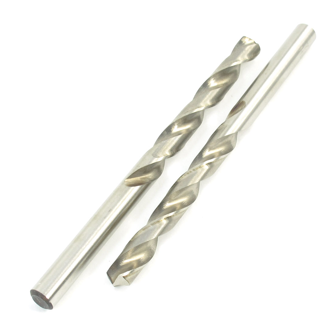 2 Pcs 7.4mm High Speed Steel Straight Shank Spiral Twist Drill Bit