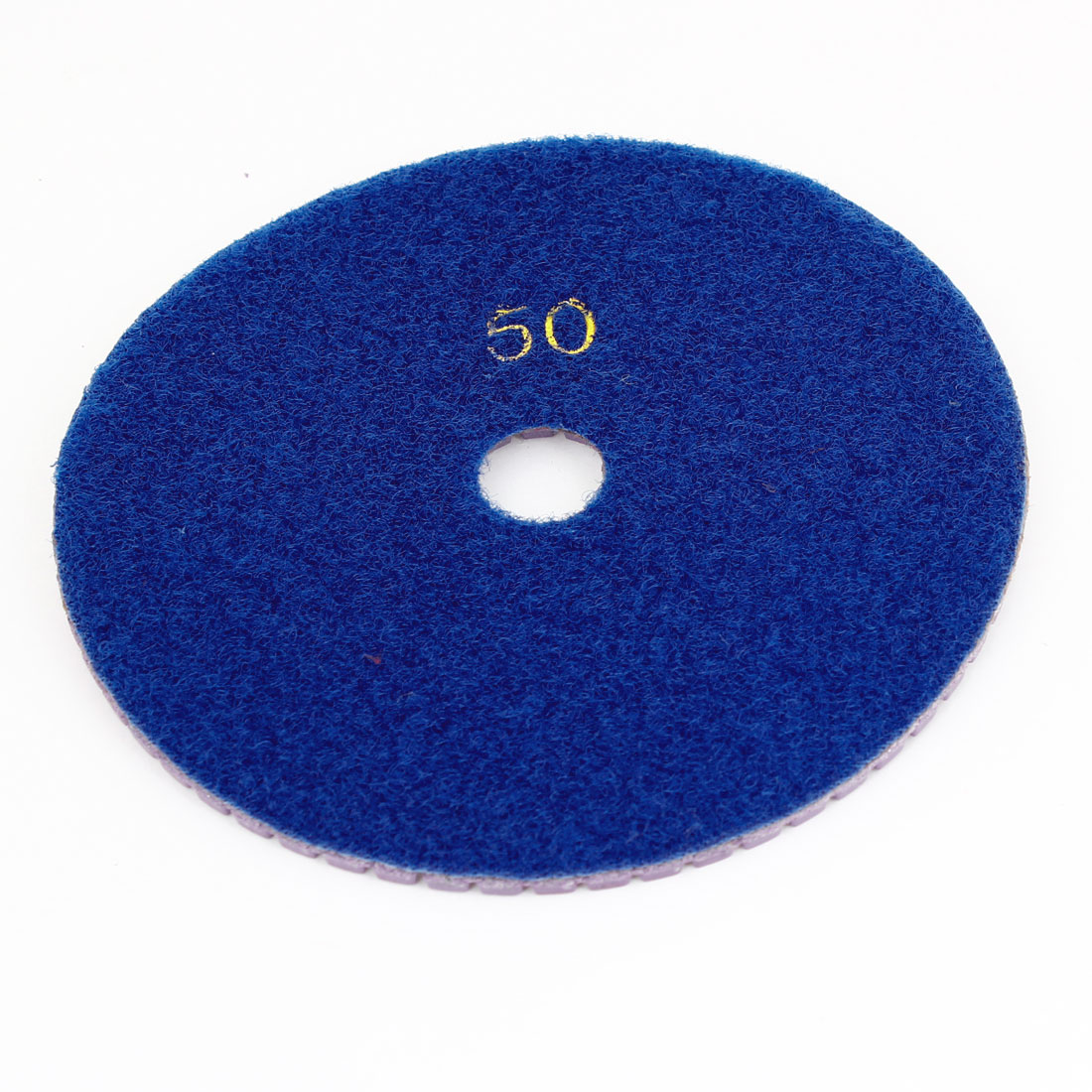 "4.8"" Dia Concrete Diamond Royal Blue Polisher Polishing Buffer Pad 50 Grit"