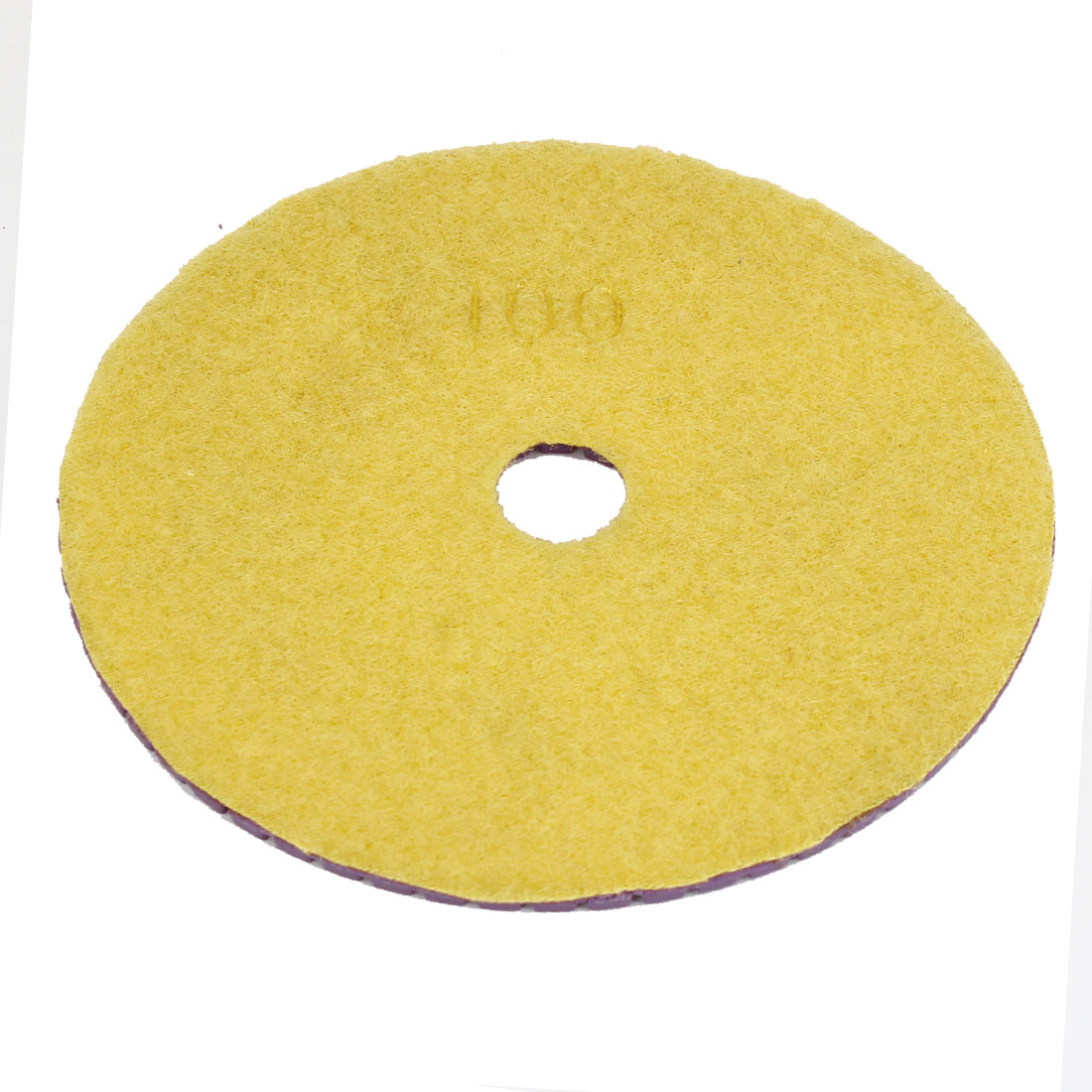 "4.8"" Dia Concrete Diamond Yellow Polisher Polishing Buffer Pad 100 Grit"