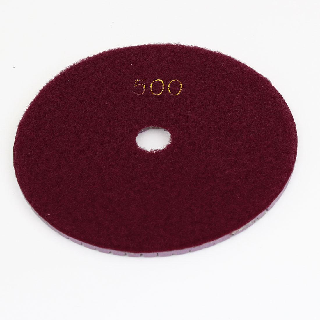 Marble Stone 500 Grit Wet Dry Diamond Buffer Polishing Pad Disc Red