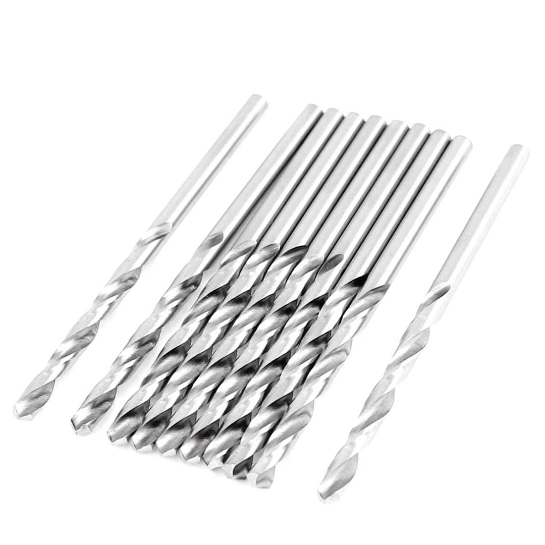2.9mm Dia Split Point 59mm Length High Speed Steel Twist Drilling Bits 10 Pcs