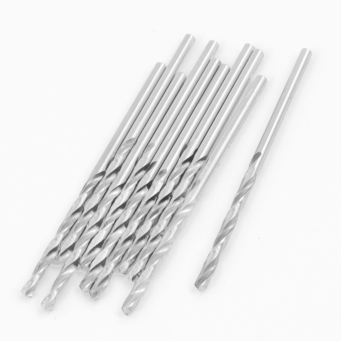 10 Pcs Split Point Straight Shank HSS Fully Ground Twist Drill Bits 2.2mm