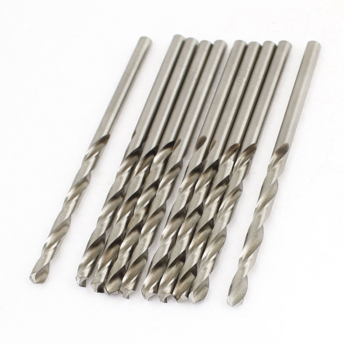 3.1mm Dia Split Point 64mm Long High Speed Steel Twist Drilling Bits 10 Pcs