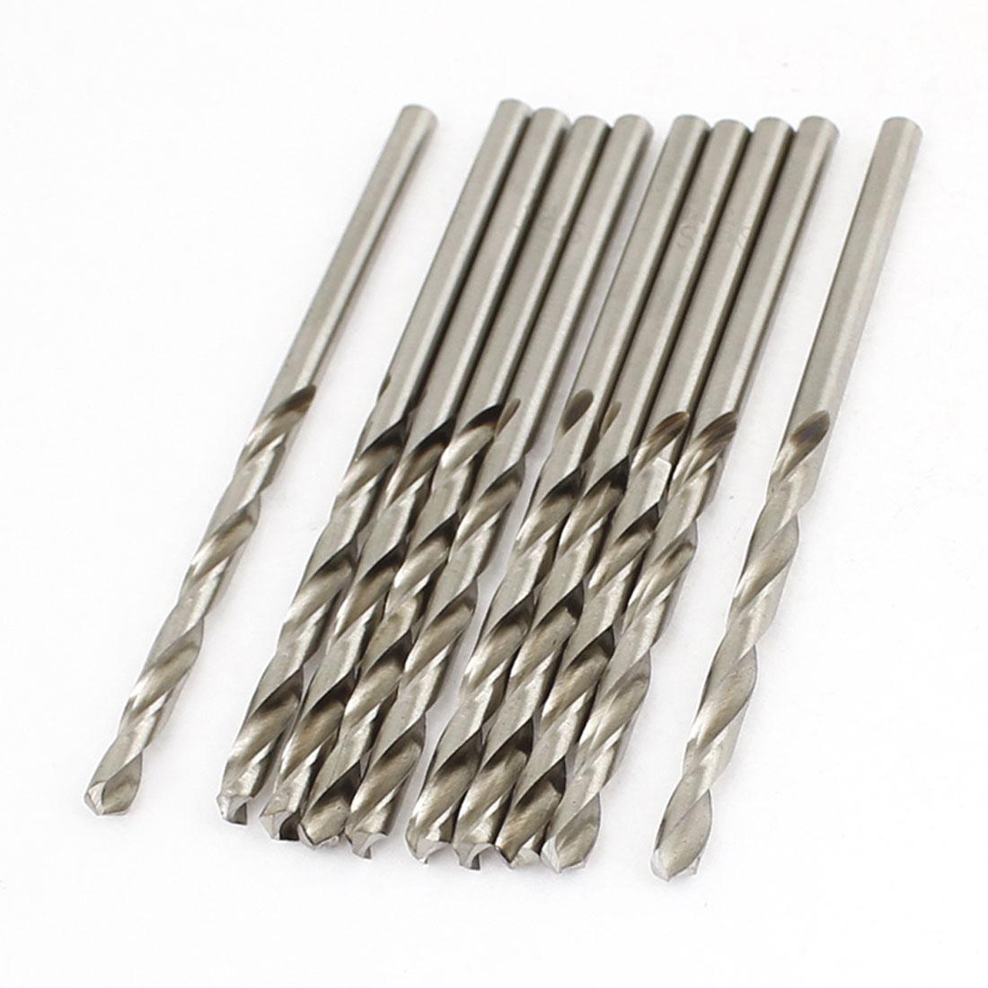 3.1mm Dia Split Point 64mm Long High Speed Steel Twist Drilling Bits 10 Pcs