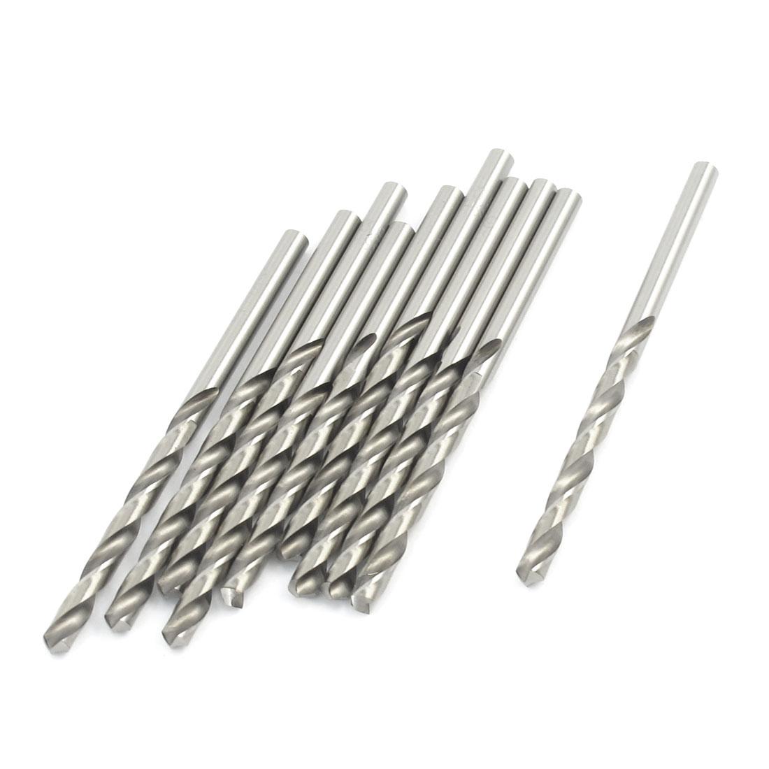 10 Pcs Straight Shank Cutting End Mills Twist Drill Bits 3.9mm Diameter