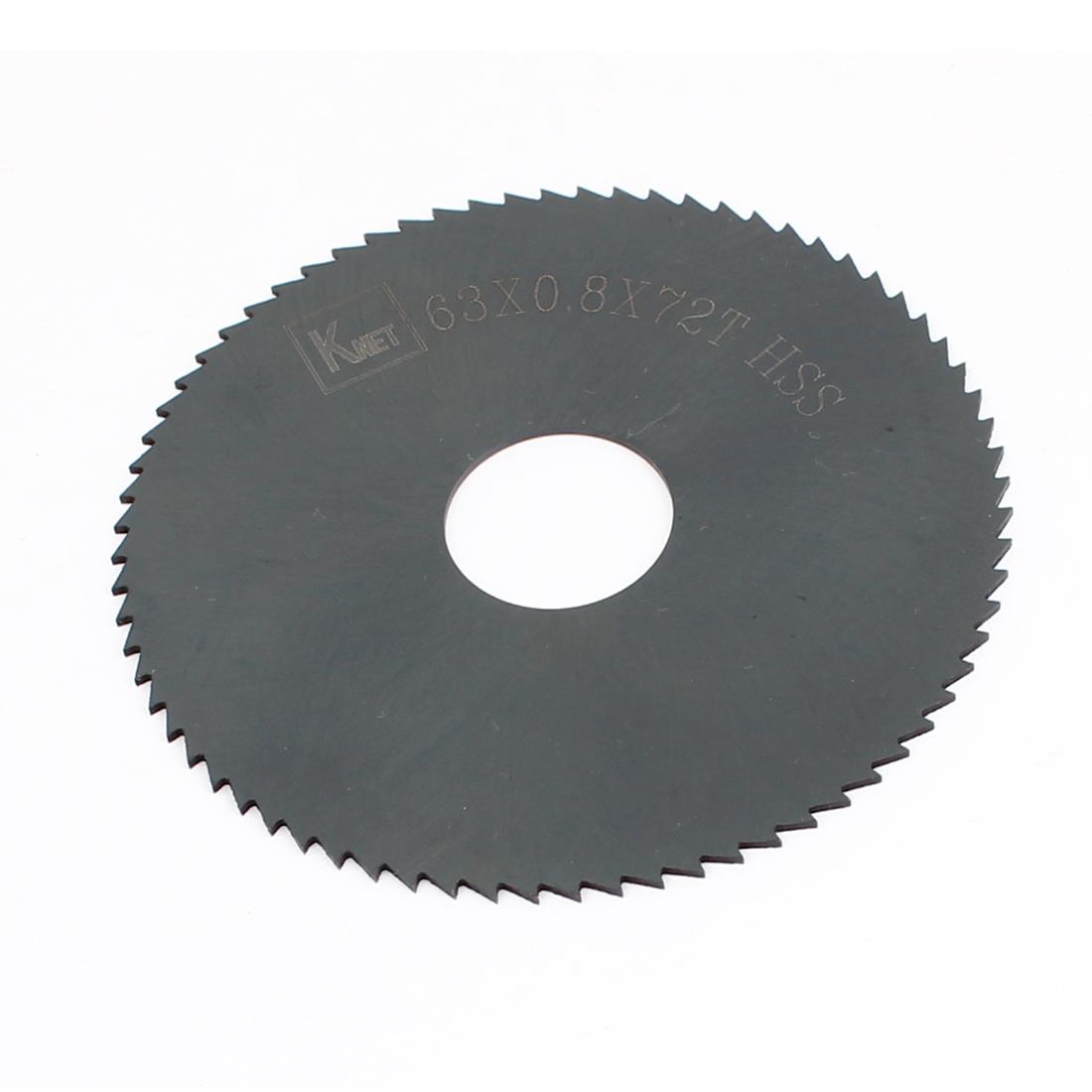 HSS 72 Teeth 63mm x 0.8mm x 16mm Slitting Saw Cutting Tool