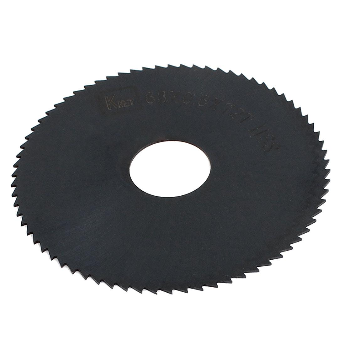 HSS 72 Teeth 63mm x 0.6mm x 16mm Slitting Saw Black