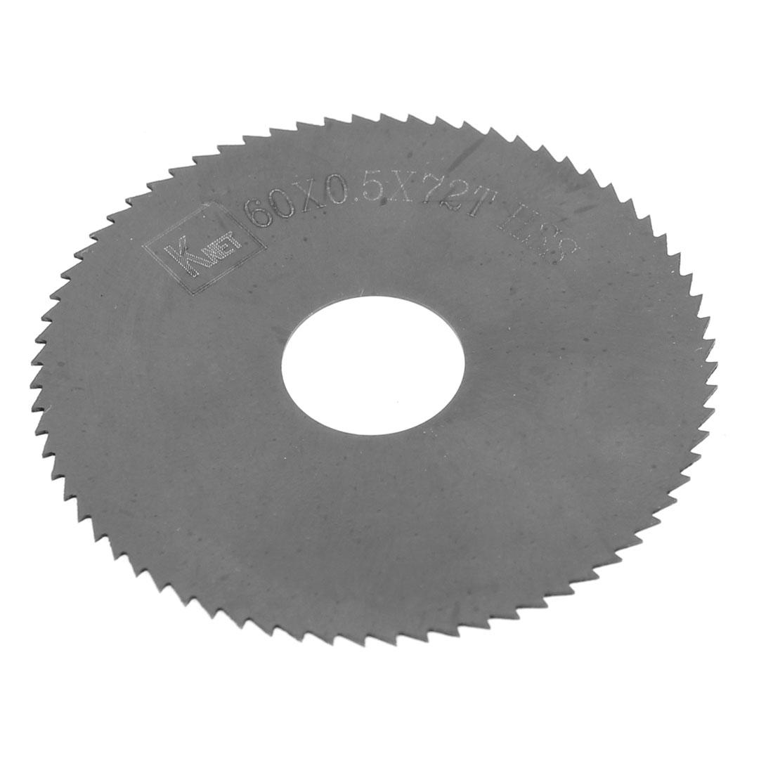 HSS 72 Teeth 60mm x 0.5mm x 16mm Slitting Saw Spare Part