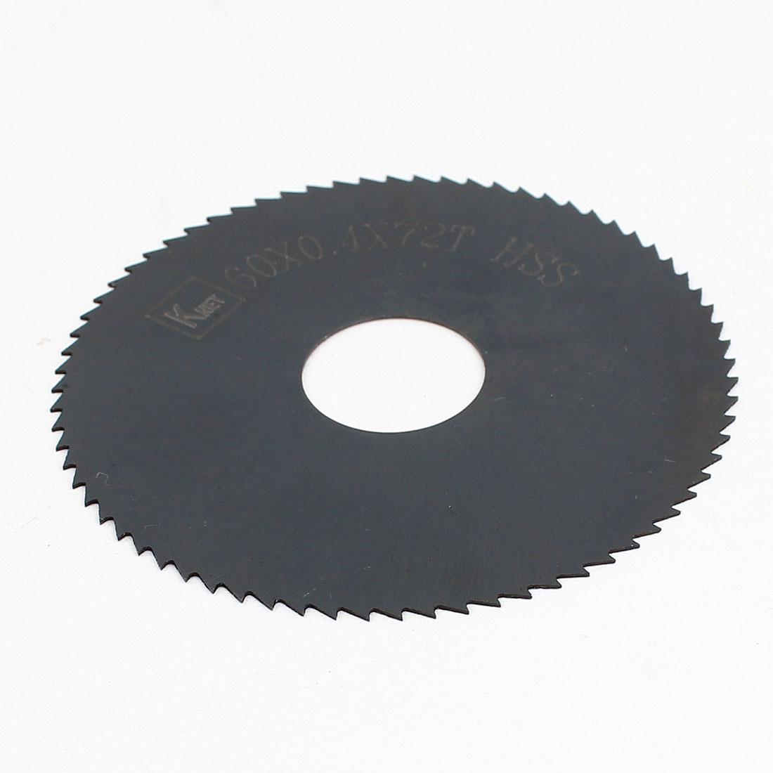 HSS 72 Teeth 60mm x 0.4mm x 16mm Slitting Saw Black