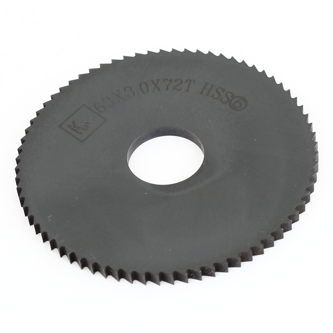 HSS 72 Teeth 63mm x 3mm x 16mm Slitting Saw Black