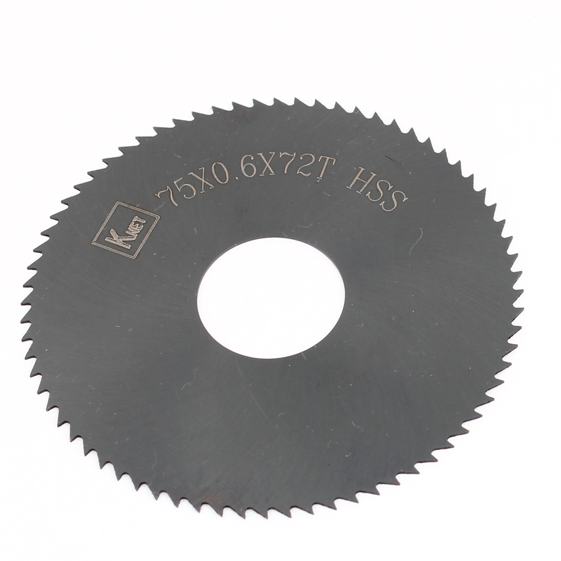 HSS 72 Teeth 75mm x 0.6mm x 22mm Slitting Saw Black