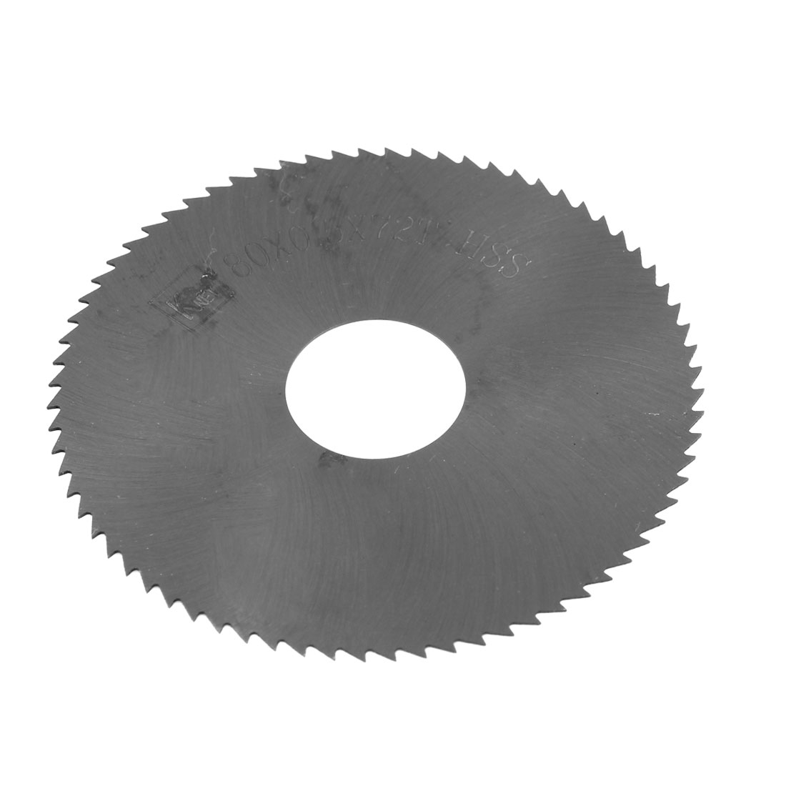 HSS 72 Teeth 80mm x 0.5mm x 22mm Slitting Saw Black