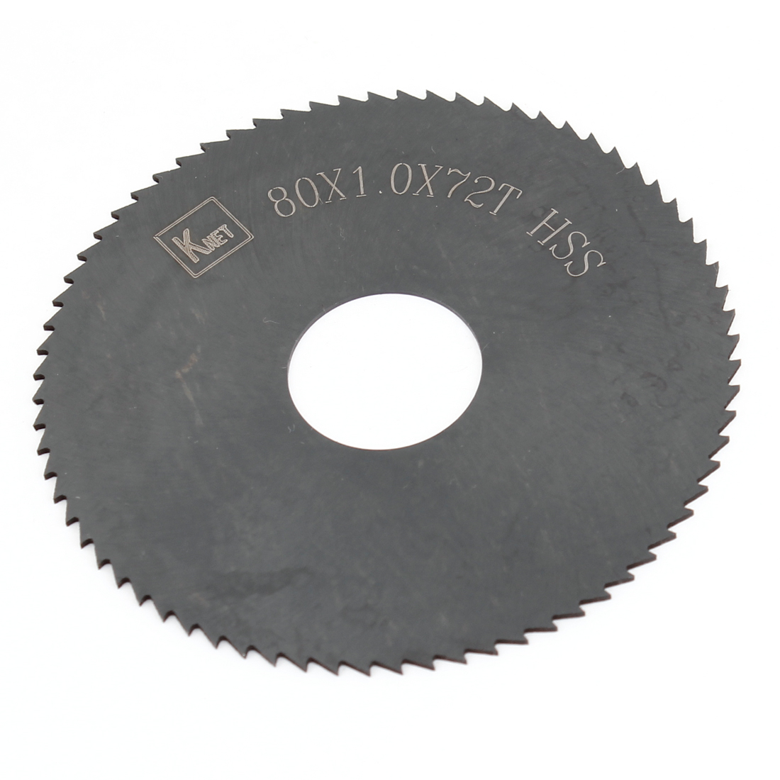 HSS 72 Teeth 80mm x 1mm x 16mm Slitting Saw Black