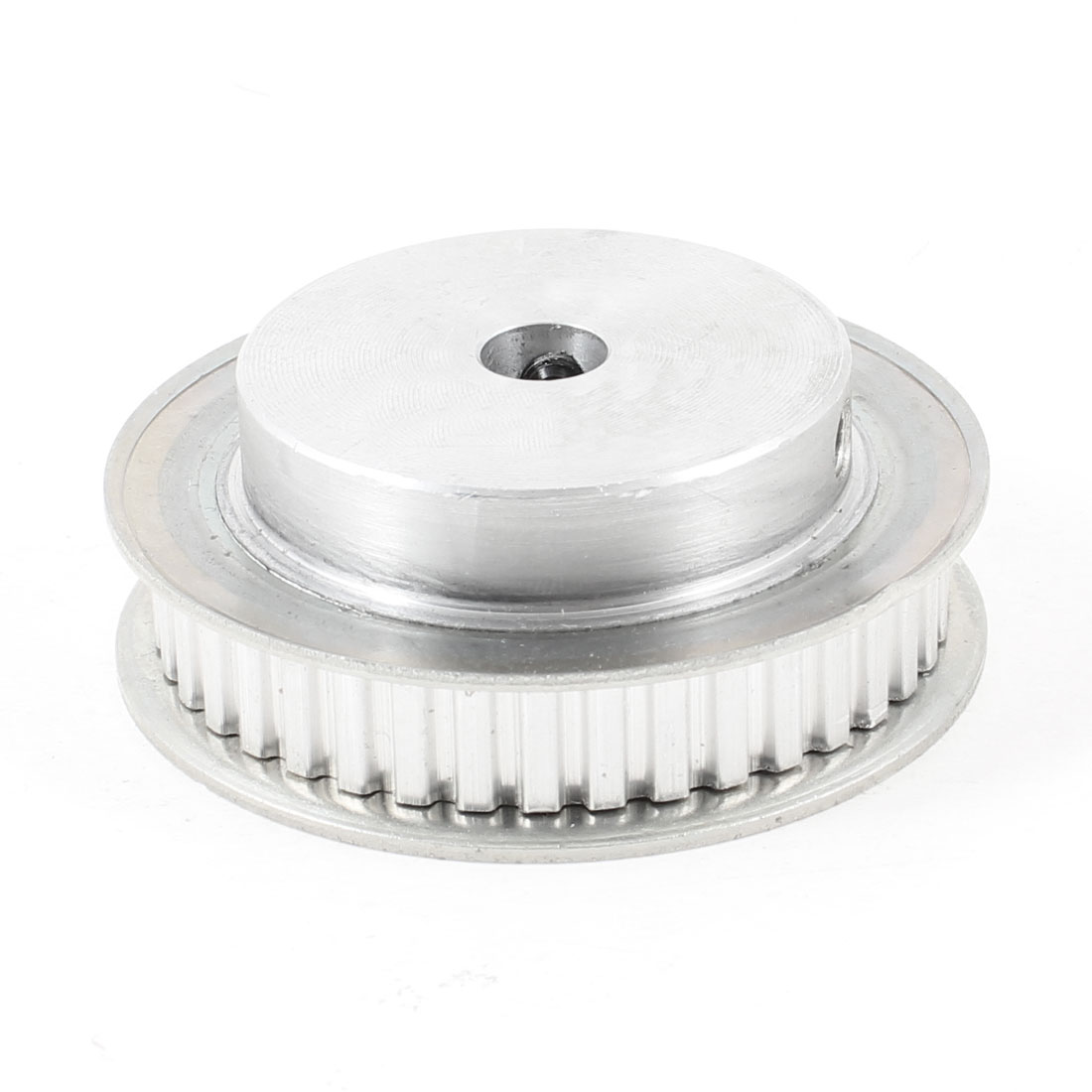 Silver Tone Aluminum Alloy 40 Teeth 10mm Pilot Bore Screwed Timing Pulley