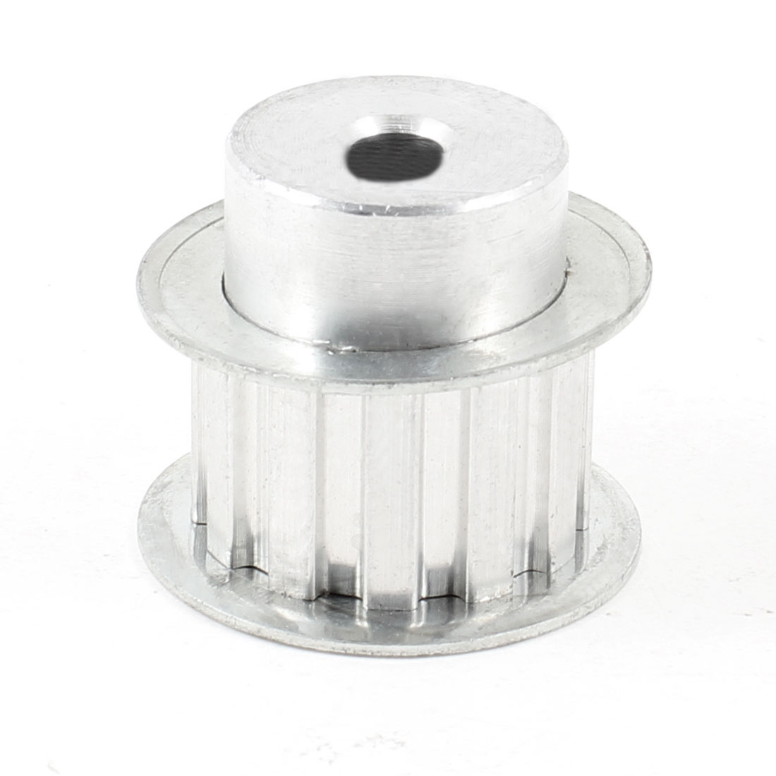 Silver Tone Aluminum Alloy L Type 12 Teeth 8mm Pilot Bore Timing Pulley
