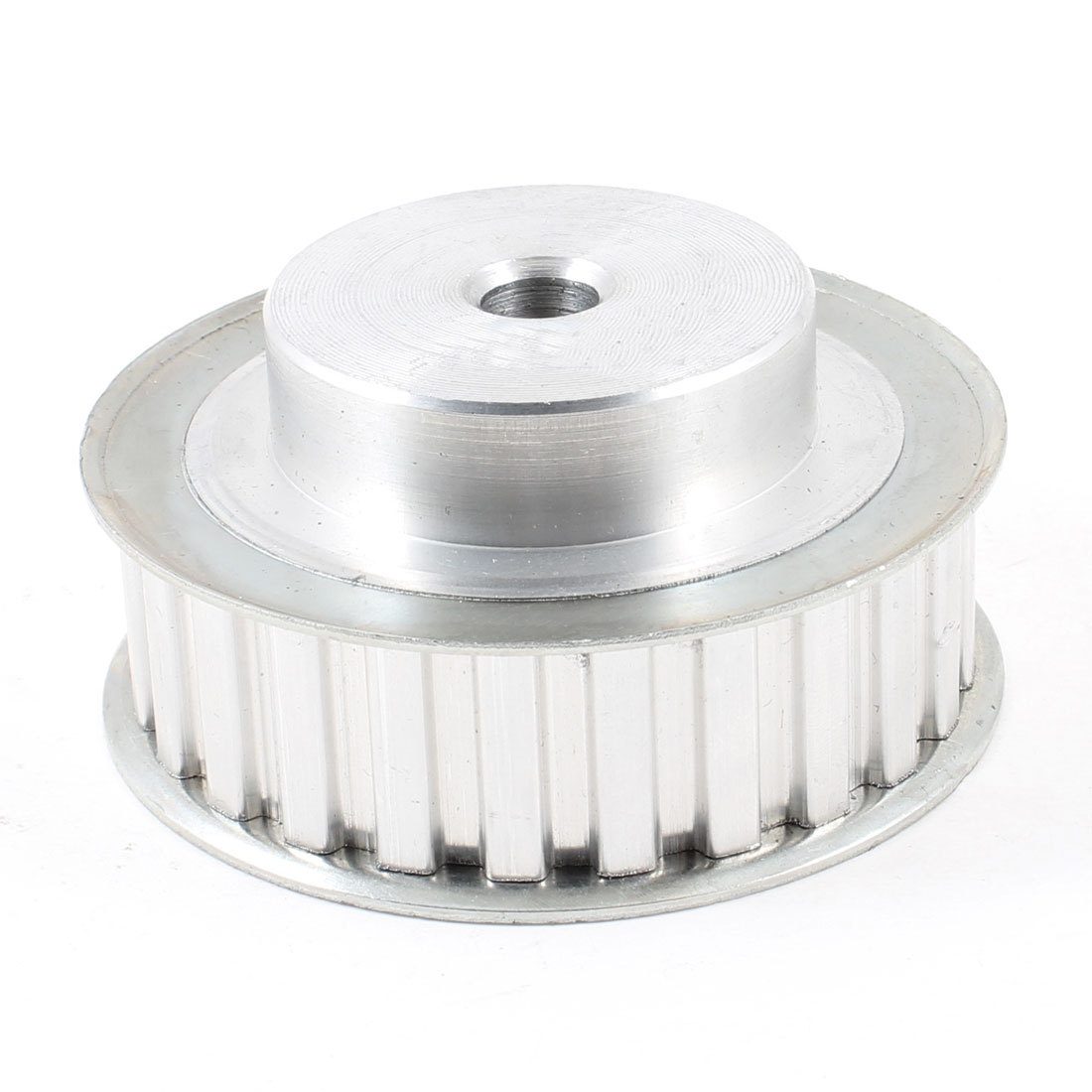 Silver Tone Aluminum Alloy L Type 25 Teeth 10mm Pilot Bore Timing Pulley