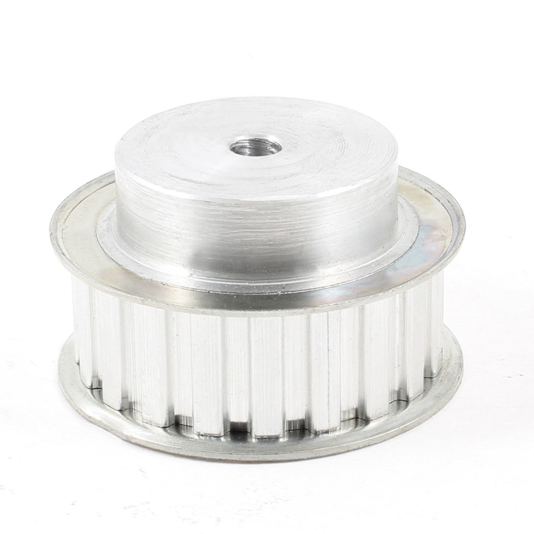 Silver Tone Aluminum Alloy L Type 20 Teeth 10mm Pilot Bore Timing Pulley