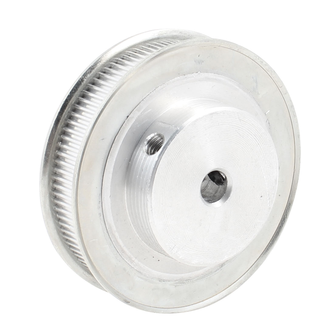 Silver Tone Aluminum Alloy 100 Teeth 8mm Pilot Bore Screwed Timing Pulley