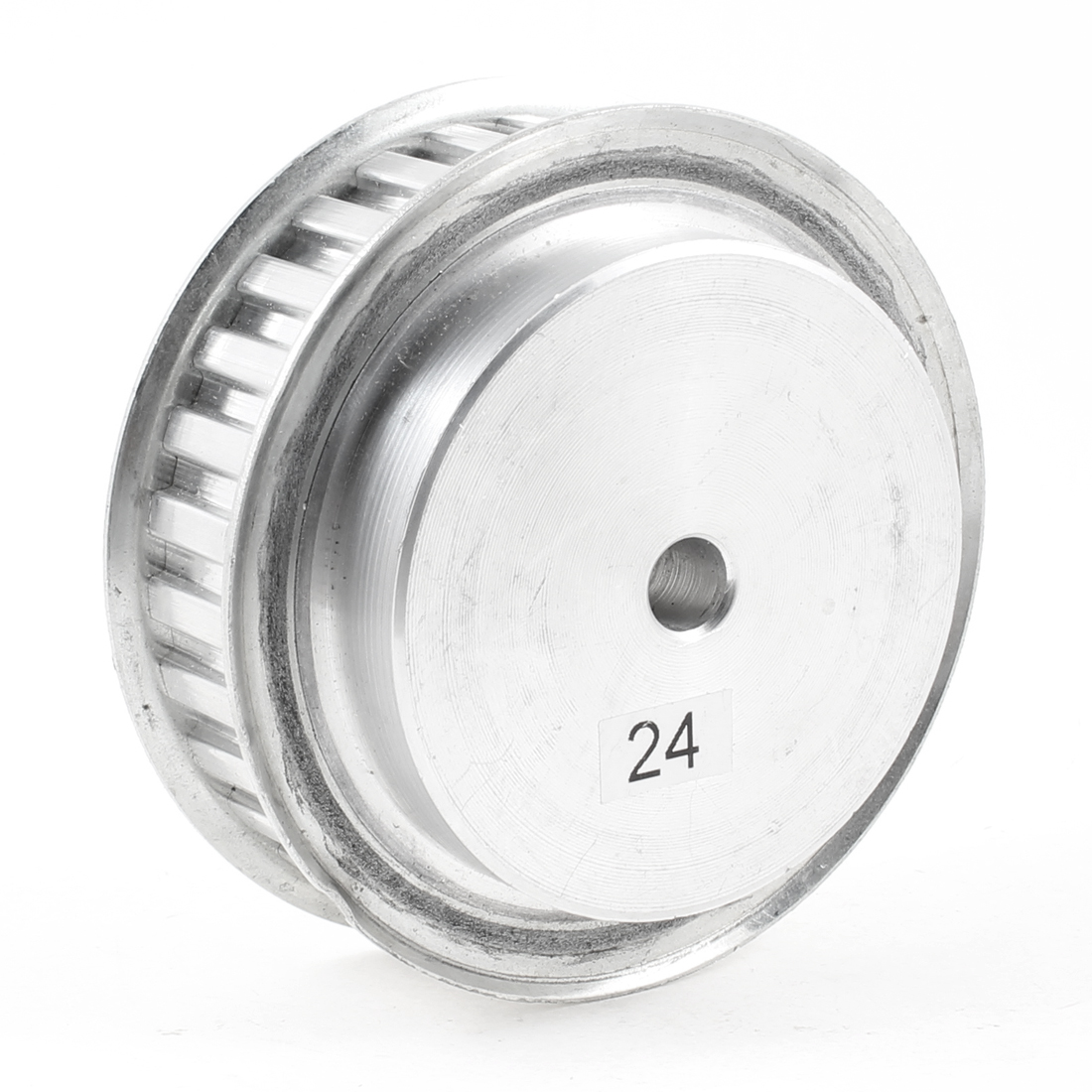Silver Tone Aluminum Alloy L Type 30 Teeth 10mm Pilot Bore Timing Pulley
