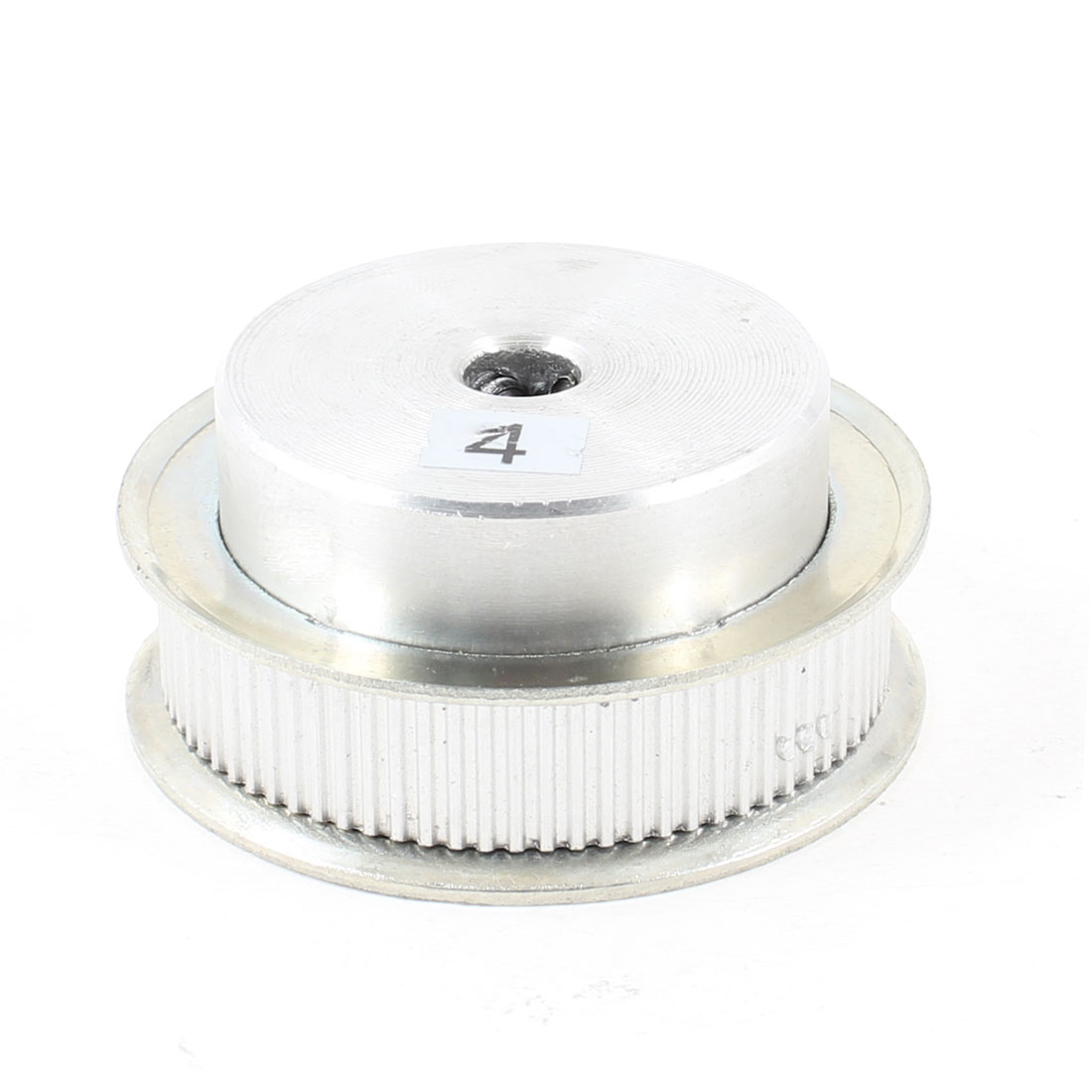 Silver Tone Aluminum Alloy 80 Teeth 8mm Pilot Bore Screwed Timing Pulley