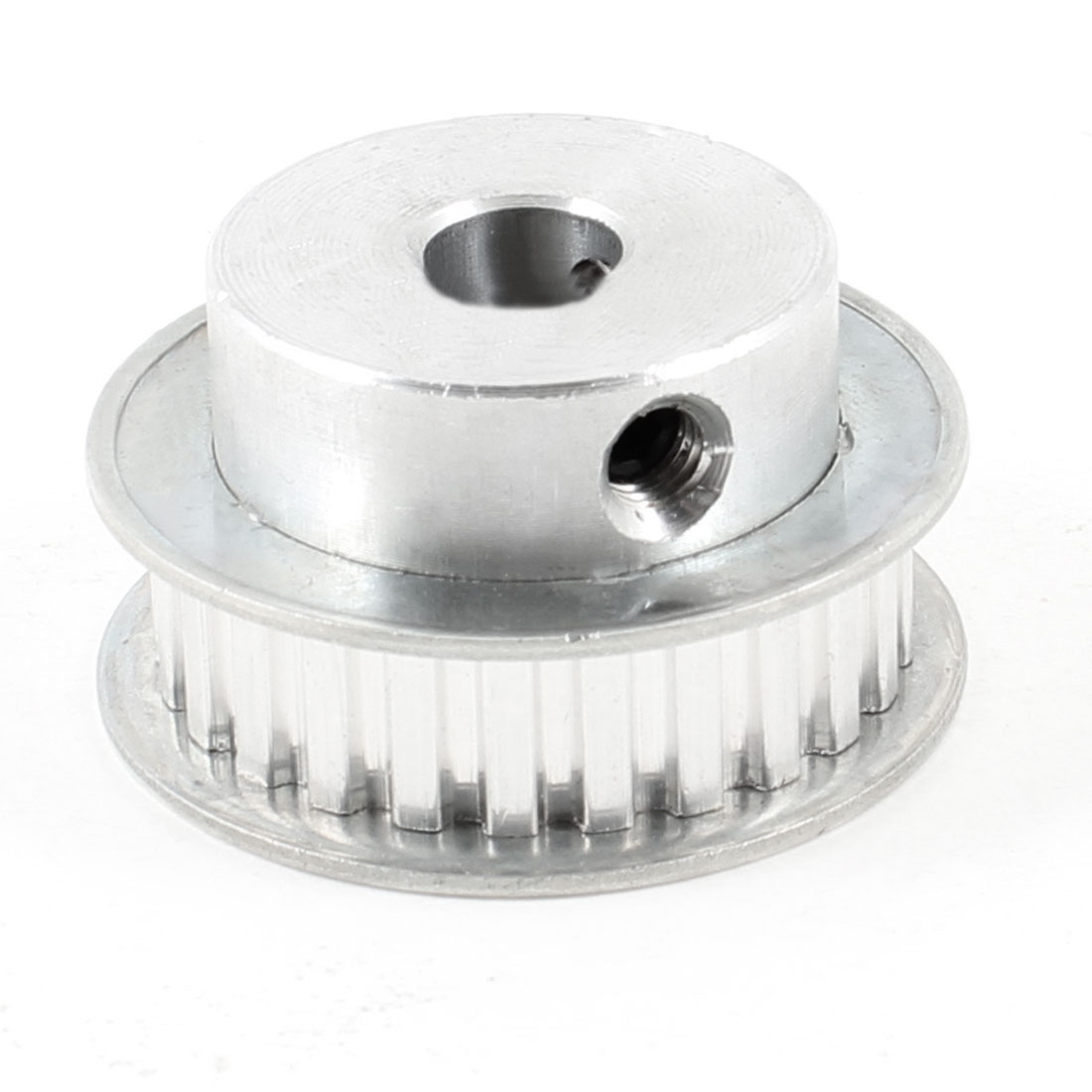 Silver Tone Aluminum Alloy XL 25 Teeth 10mm Pilot Bore Screwed Timing Pulley