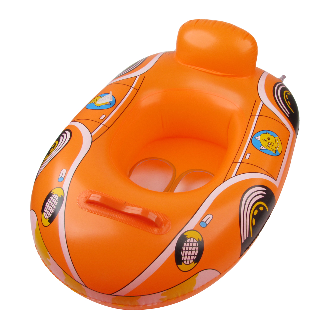 Orange PVC Inflatable Paddle Floating Swimming Boat for Children