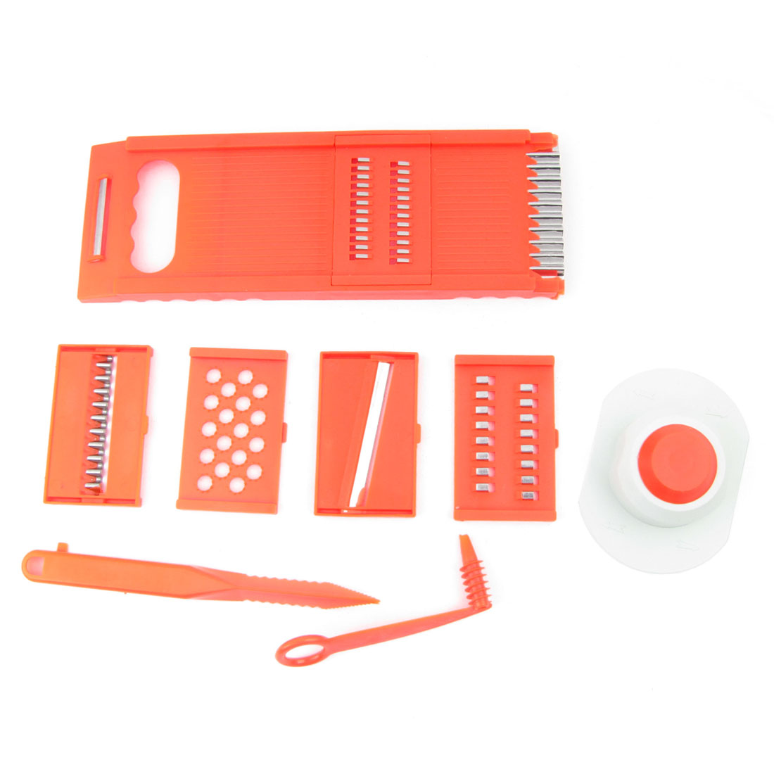 Orange Red Vegetable Combo Plastic Shreds Grater Kitchen Cutter Set