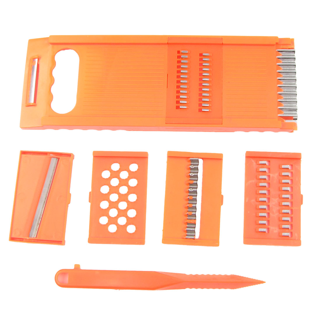 Sharp Metal Cutter Orange Red Plastic Frame Fruit Vegetable Grater Peeler