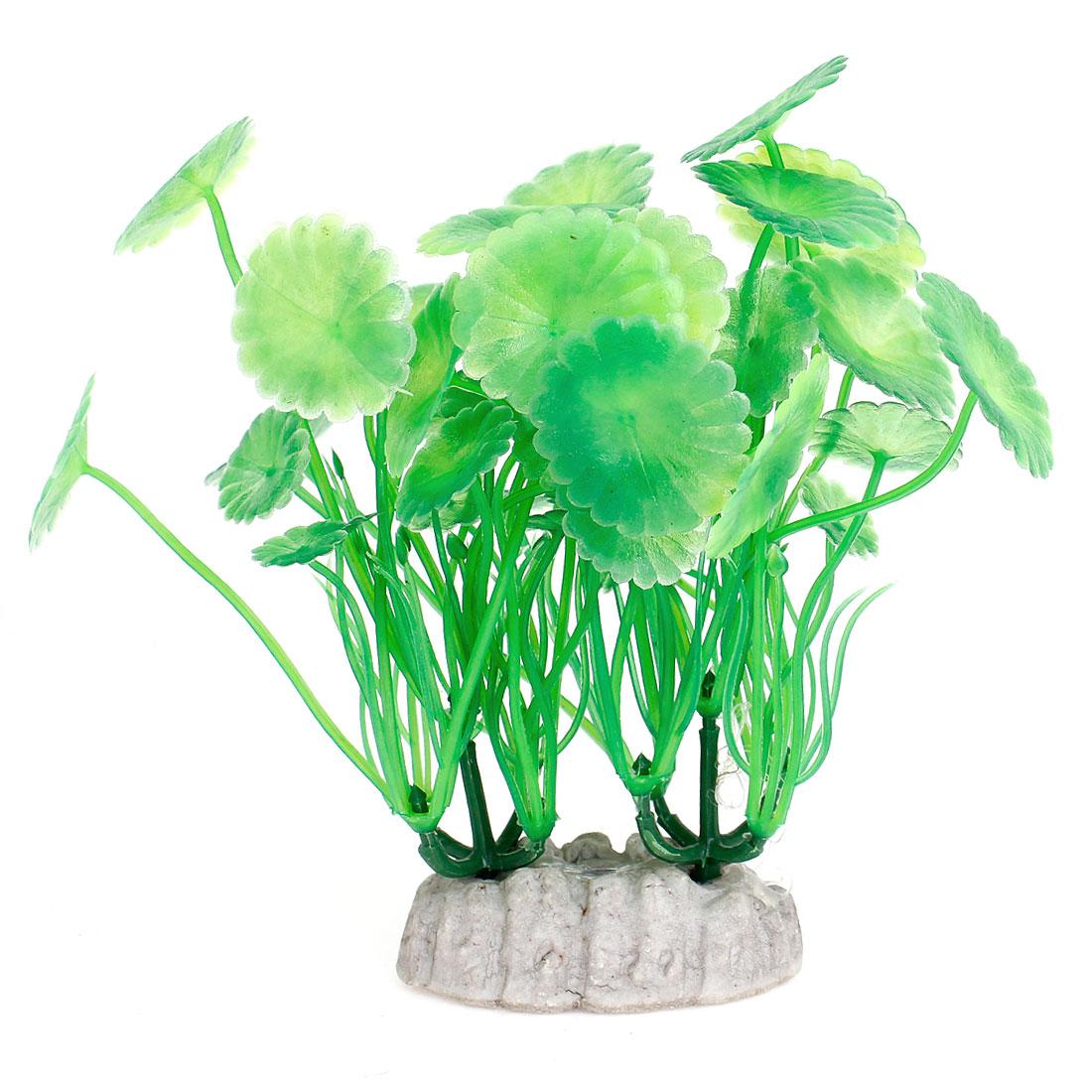 "4.7"" Height Green Artificial Manmade Aquarium Decoration Grass Plants 2PCS"