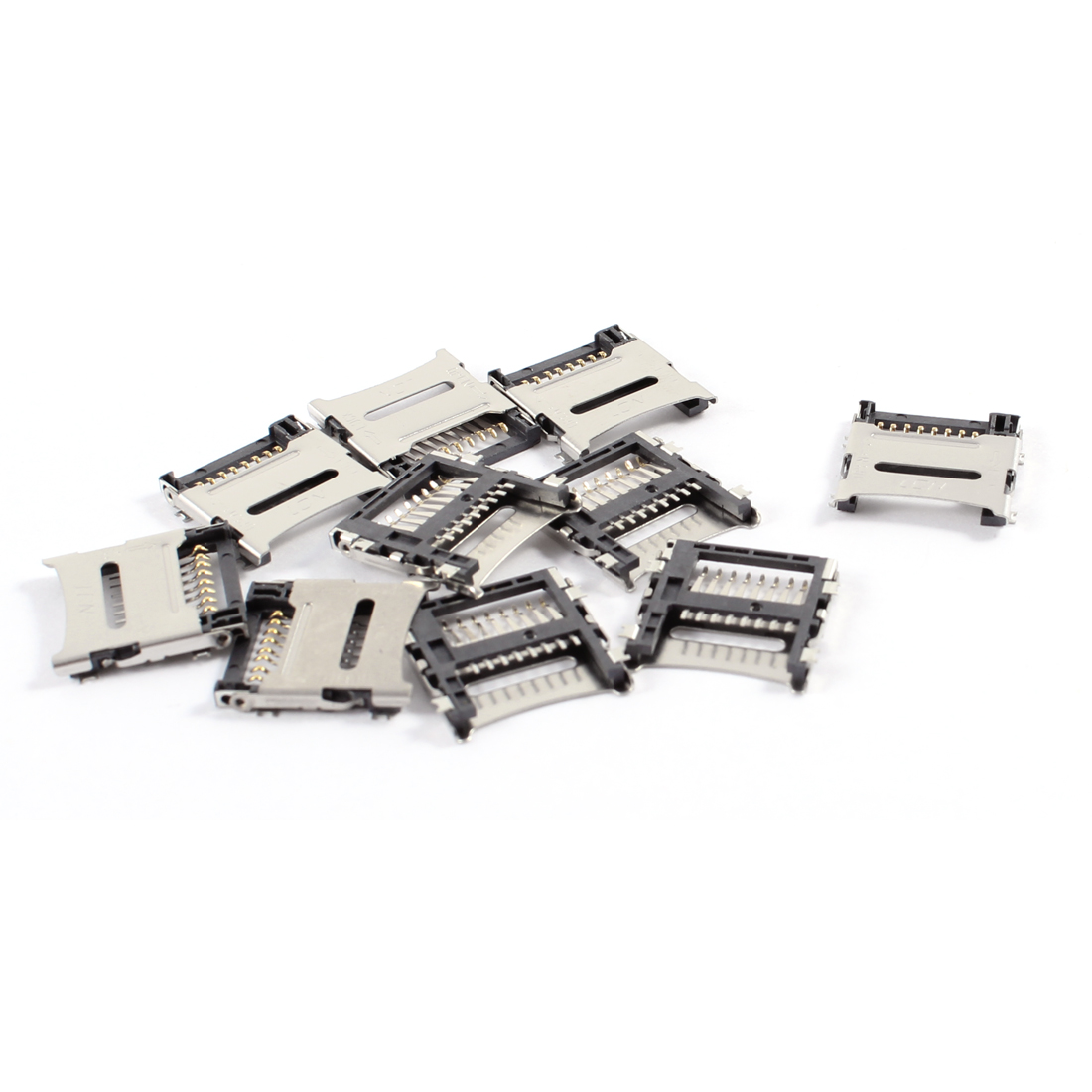 10 Pcs Micro SD TF Transflash Memory Card Quick Flip Sockets Replacement