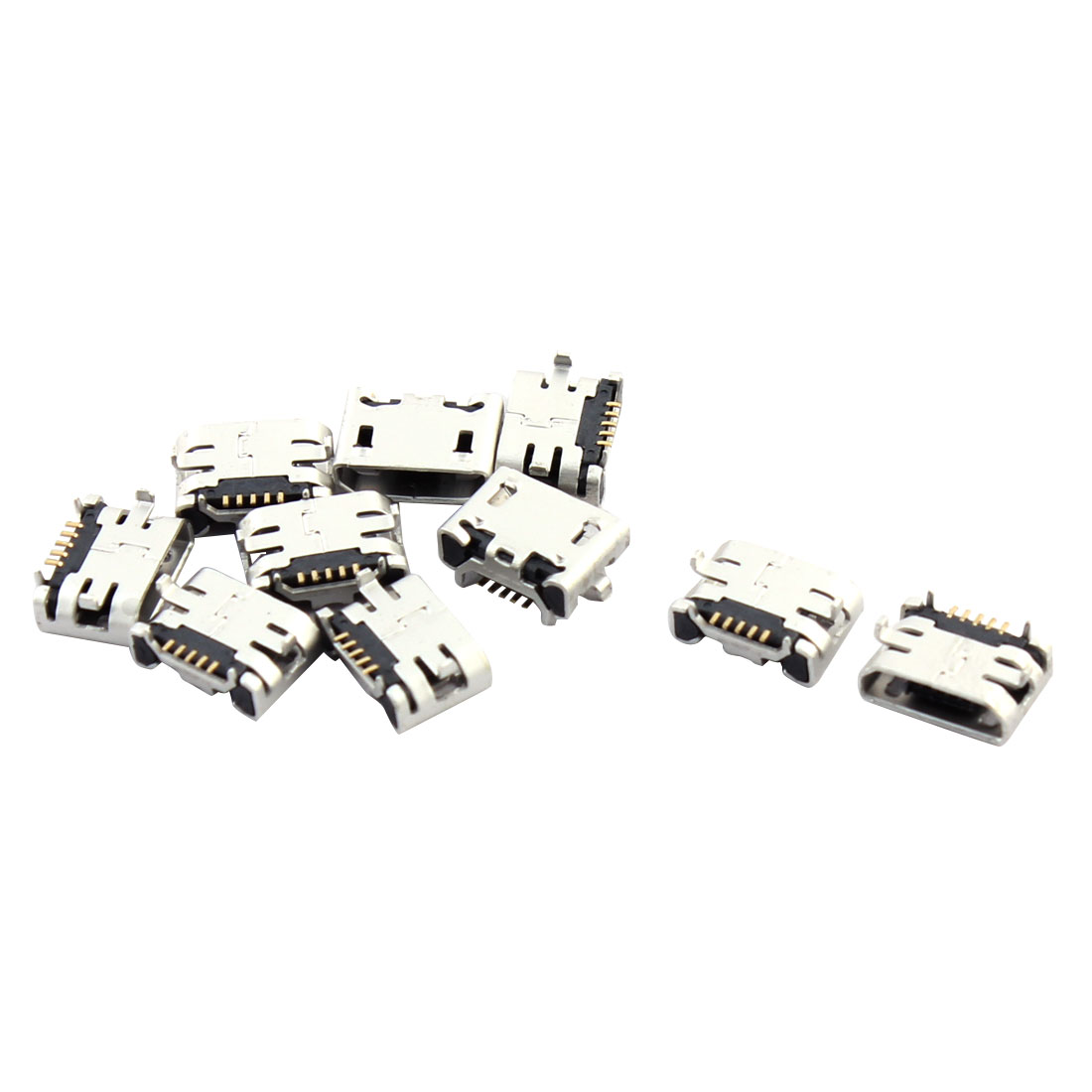 Cell Phone Type B Micro USB Female Charging Connector Jack Port Socket 10 Pcs