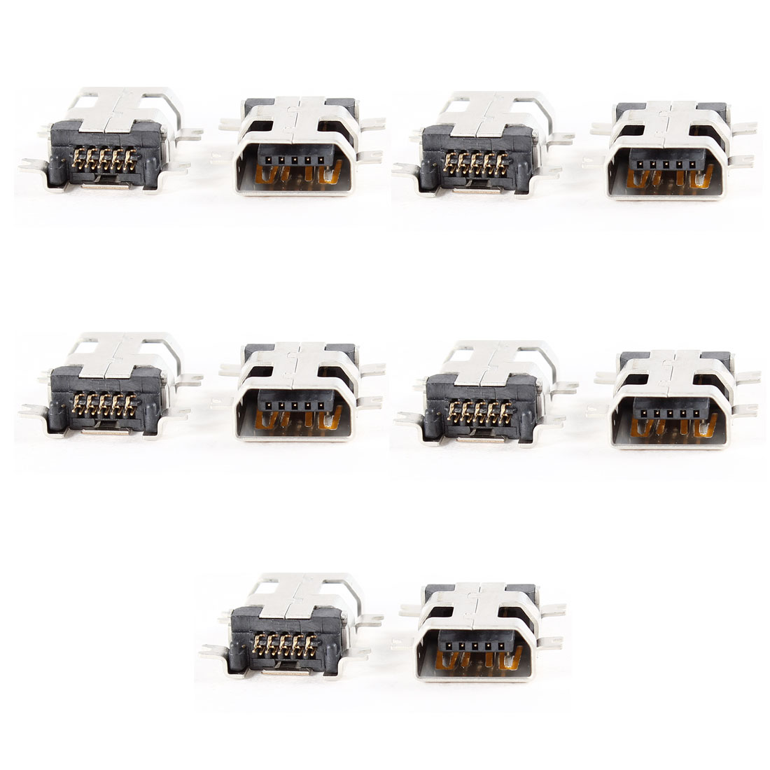 Micro Female USB Type B 10 Pin SMT PCB Board Mount Jack Charger Port 10 Pcs