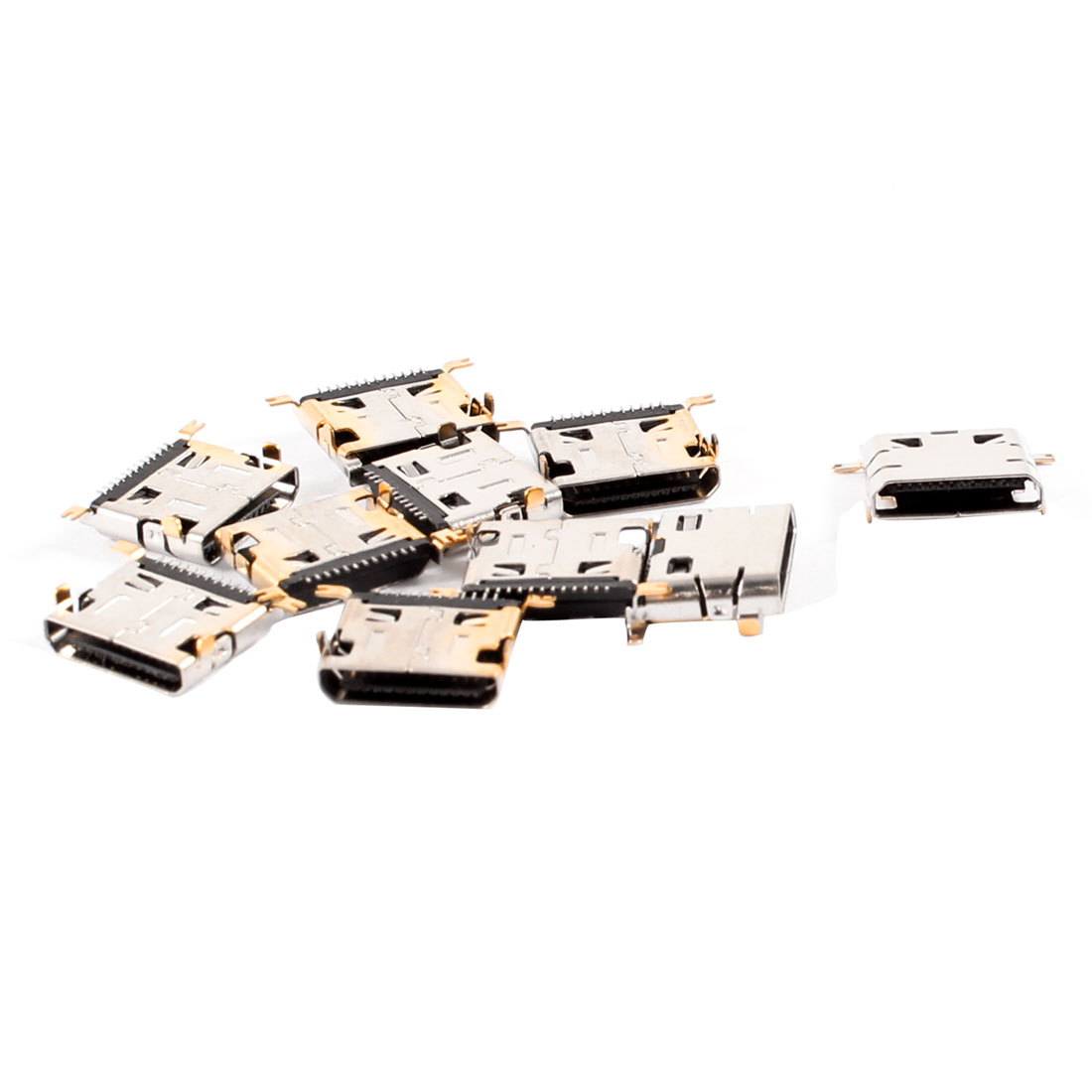10 Pcs Type A Micro USB Female 12 Pin Jack Port Socket for LG