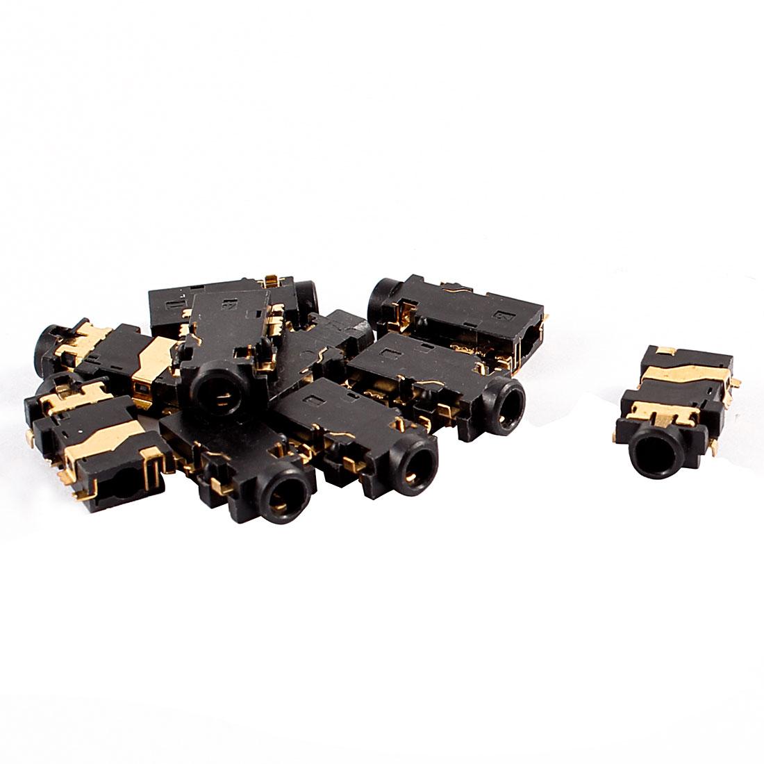 10 Pcs 2.5mm PCB Panel Mount Headphones Stereo Jack Socket