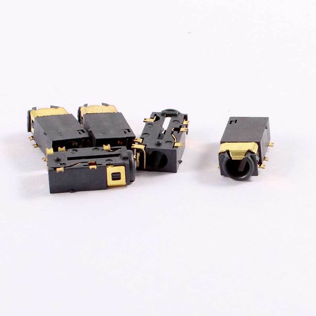 5 Pcs 6 Terminals PCB Mount Headphone 3.5mm Jacks Connectors Socket