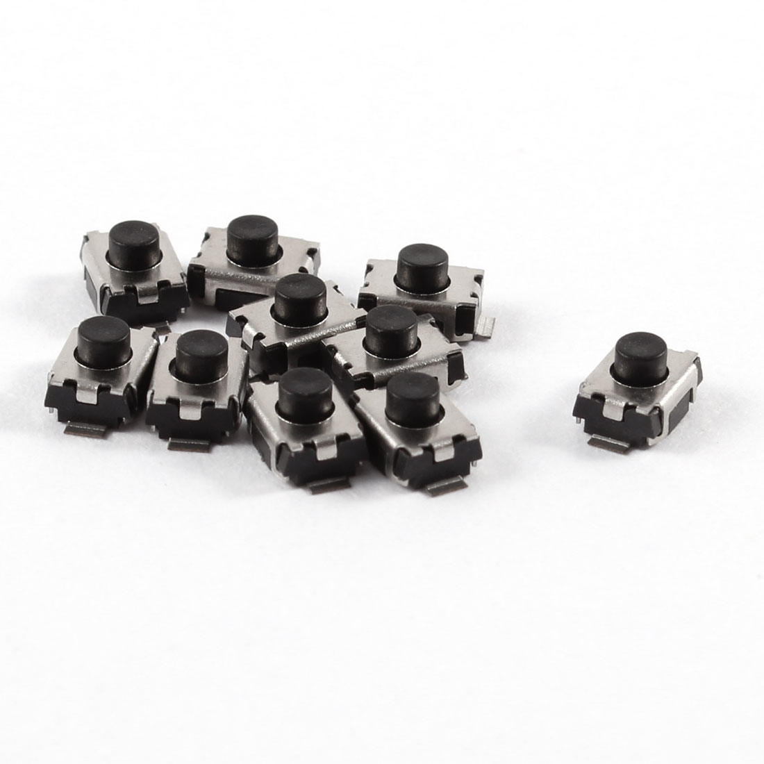 10 Pcs 3x4x2.5mm Momentary Push Button SMD SMT Tactile Tact Switch