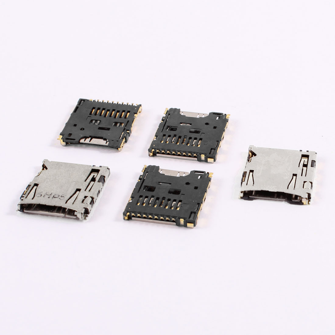 Push-out Design Tansflash Micro TF SD Memory Card Sockets 5 Pcs