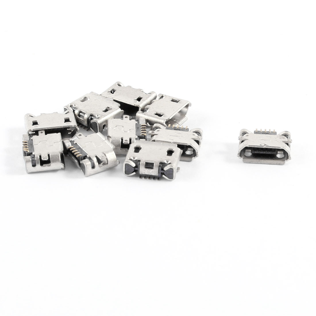 10 Pcs Type B Micro 5 Pin USB Female Mount Jack Port Socket for Cell Phone