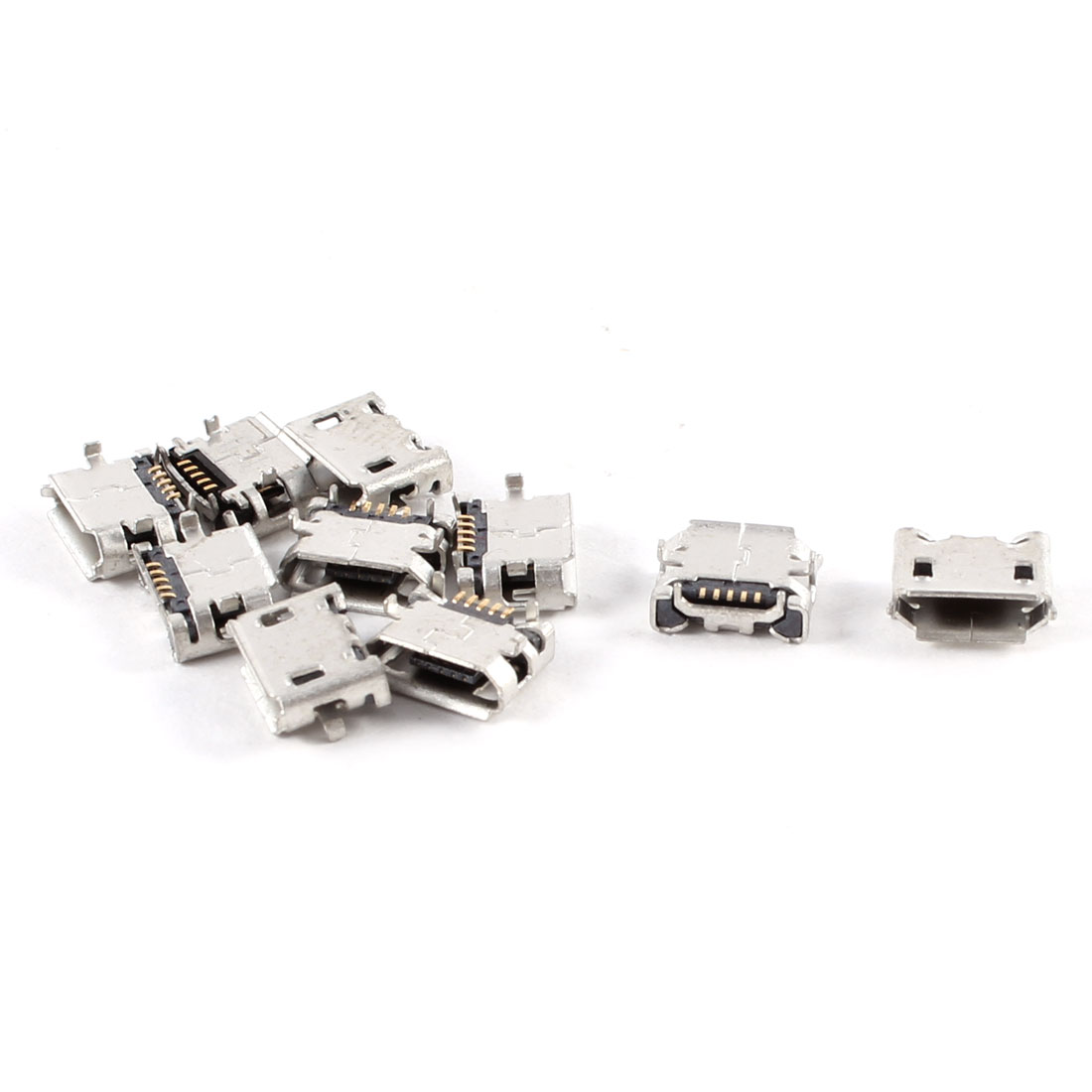 10 Pcs Type B Micro USB Female Charger Charging Jack Connector Port Socket
