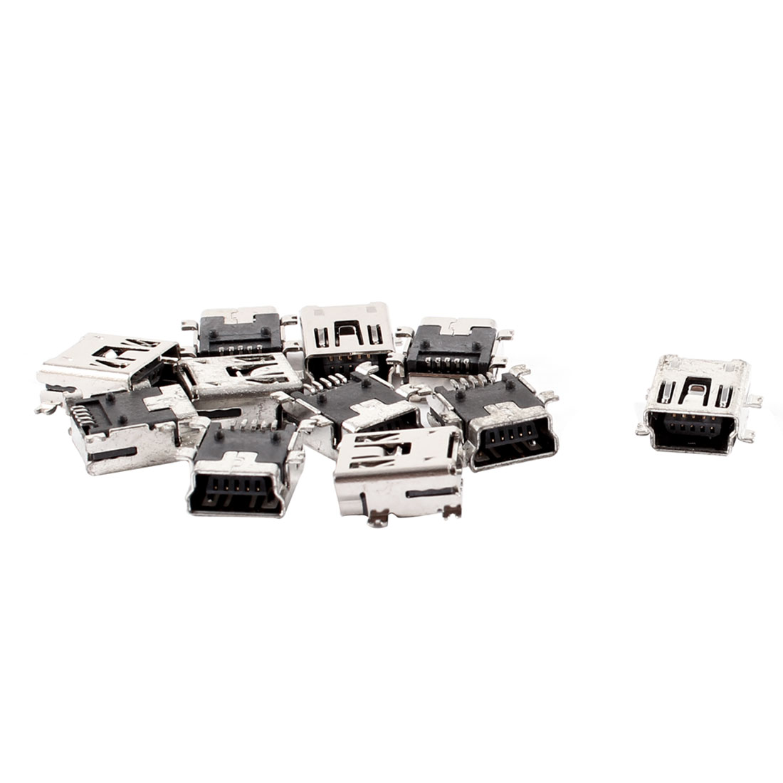 Replacement Mini USB Type B Female 5 Pin PCB Board Mount Jack Charger Connector 10 Pcs
