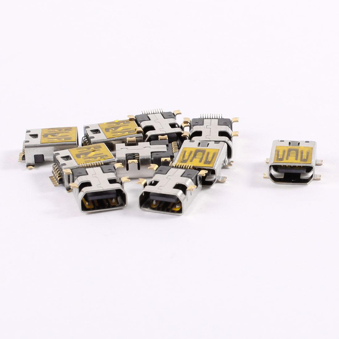 B Type Mini USB Charging Charger Port Jack Connector 10 Pin Plug Socket 10 Pcs