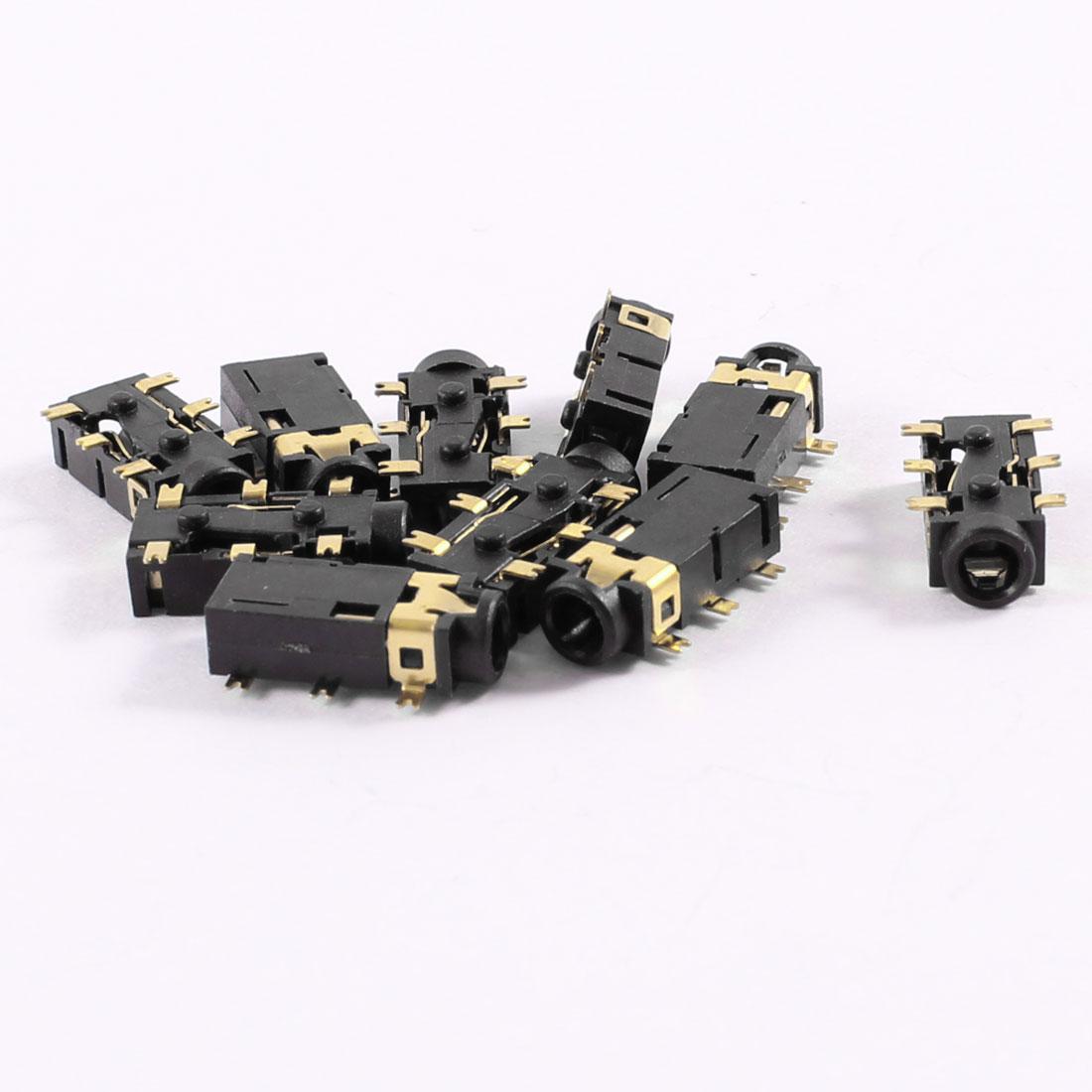 10 Pcs PCB Mount 6 Terminals Female 2.5mm Headphone Audio Jack Socket