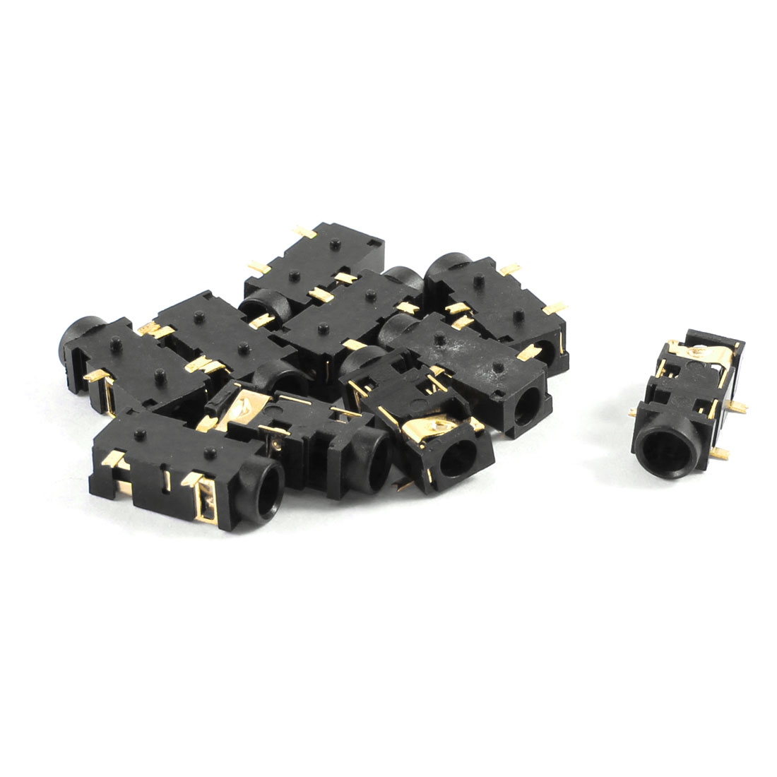 10 Pcs PCB Mount 3 Terminals Female 3.5mm Headphone Audio Jack Socket
