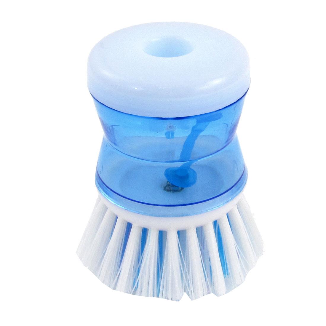 Pot Pan Wok Bowl Cleaning Tool Plastic Scrubber Brush Blue White