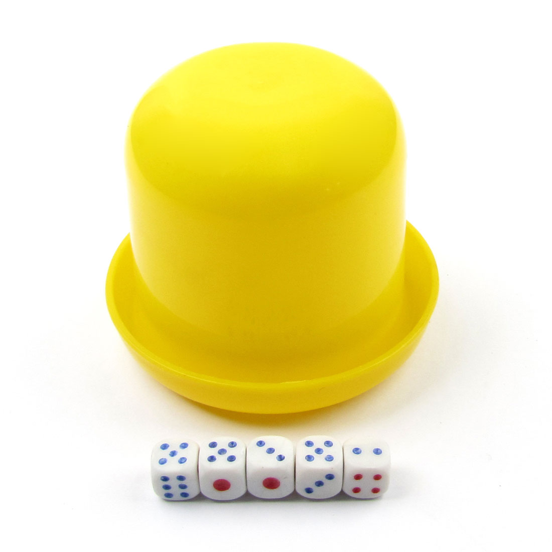 Hand Shaking Guessing Game Toy Yellow Plastic Cup w 6 Dices